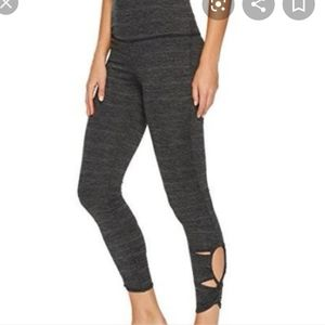 Free People Movement gray cutout ankle legging